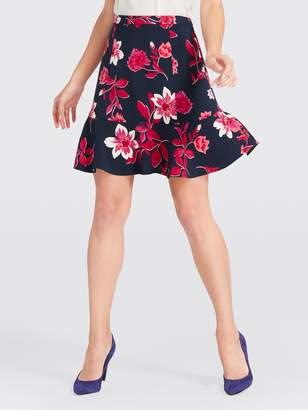 Draper James Darlington Floral Flutter Skirt