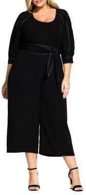 City Chic Plus Stitched Up Jumpsuit