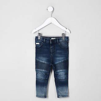 River Island Mini boys blue Sid skinny biker jeans