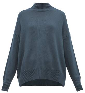Allude High Neck Cashmere Sweater - Womens - Blue
