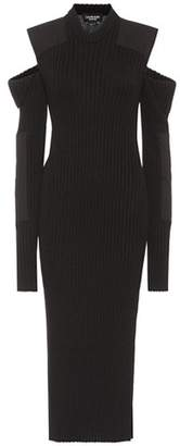 Calvin Klein Ribbed cotton-blend knit dress