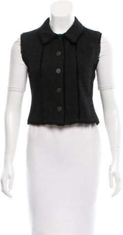 ChanelChanel Fringe-Trimmed Button-Up Vest