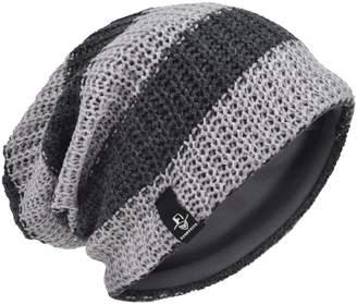 e7d3a9cd05e HISSHE Men Slouchy Beanie Stripe Knit Winter Skull Cap CB09