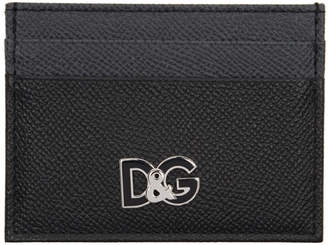 Dolce & Gabbana Black and Grey Logo Card Holder