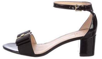 Tory Burch Patent Leather Bow Sandals