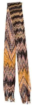 Missoni Open-Knit Printed Scarf