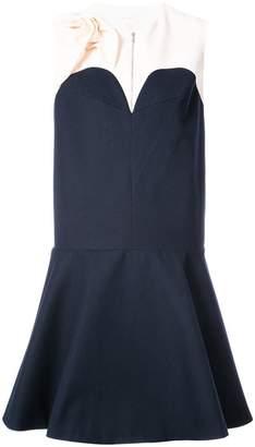 DELPOZO contrast flared tailored dress