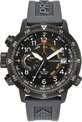Citizen Eco-Drive Men's Promaster Altichron Gray Polyurethane Strap Watch 46mm
