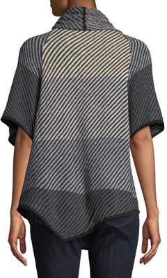 Chelsea & Theodore Cowl-Neck Half-Sleeve Sweater