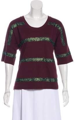 Dries Van Noten Dries Von Noten Metallic Striped Sweatshirt