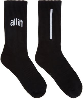 all in Black Logo Socks $25 thestylecure.com