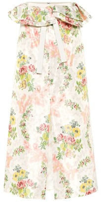 Brock Collection Exclusive to Mytheresa Peplum floral silk-blend skirt