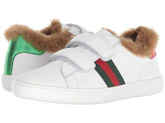 Gucci Kids New Ace Faux Fur Sneaker (Little Kid)