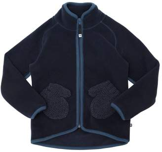 Molo Zip-Up Fleece Jacket W/ Mitten Pockets