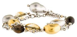 Roberto Coin Smoky Quartz, Citrine & Diamond Bracelet