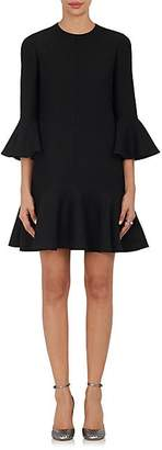 Valentino Women's Virgin Wool-Silk Ruffle Dress - Black