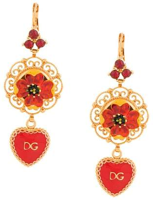 Dolce & Gabbana heart drop earrings