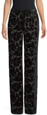 St. John Floral Velvet Burnout Pants