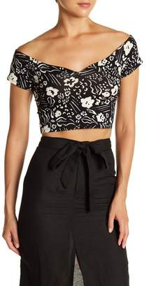 Billabong Babe Alert Print Crop Top