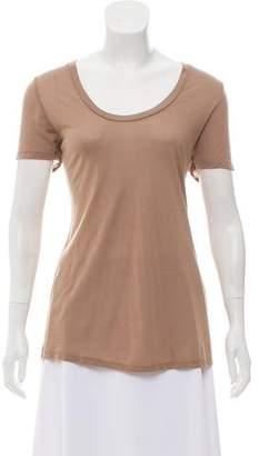L'Agence Short Sleeve Crew Neck T-Shirt