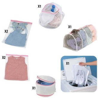 Household Essentials Mesh Laundry Bags Durable Delicates Wash Bags Travel Laundry Bags 8 pc. Set Assorted