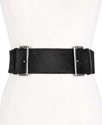 INC International Concepts I.n.c. Studded Double-Buckle Belt