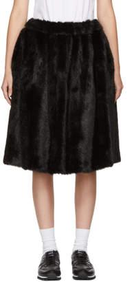 Comme des Garcons Black Faux-Fur Skirt