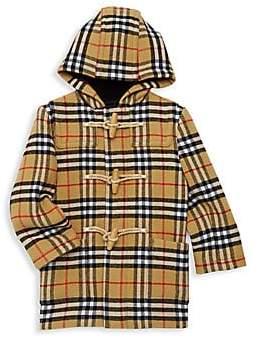 Burberry Baby Boy's & Little Boy's Brogan Check Hooded Wool Jacket