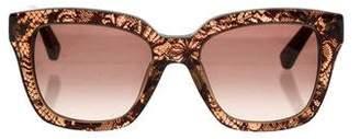 Valentino Oversize Lace Sunglasses