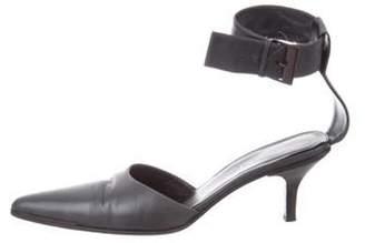 Gucci Leather Ankle Strap Pumps Black Leather Ankle Strap Pumps