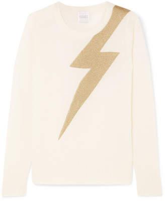 Madeleine Thompson Greve Metallic Intarsia Cashmere Sweater - Cream