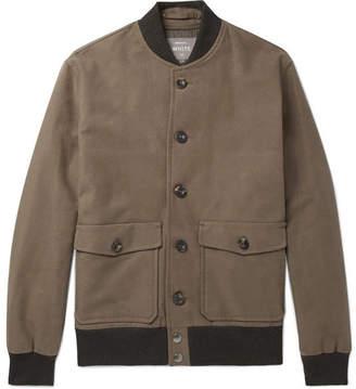 Private White V.C. Stretch-Cotton Moleskin Bomber Jacket