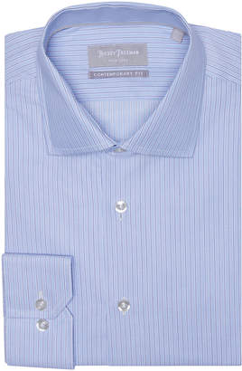 Hickey Freeman Men's Contemporary-Fit Dobby Stripe Dress Shirt