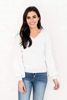 Everyday ShopRachel Parcell Bubble Sweater in White