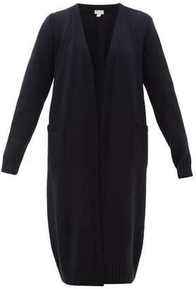 Hanro Ribbed Wool Robe - Womens - Navy