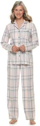 Croft & Barrow Petite Flannel Shirt & Pants Pajama Set
