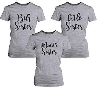 365 Printing Big Sister Lady's T-shirt Short Sleeve Heather Cotton Tee Gift For Sister