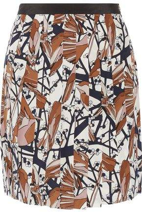 Marc By Marc Jacobs Nightingale Printed Silk Crepe De Chine Mini Skirt