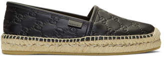 Gucci Black Signature Espadrilles