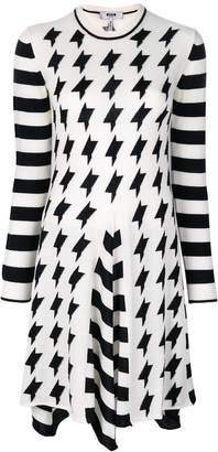 MSGM roll neck contrast dress
