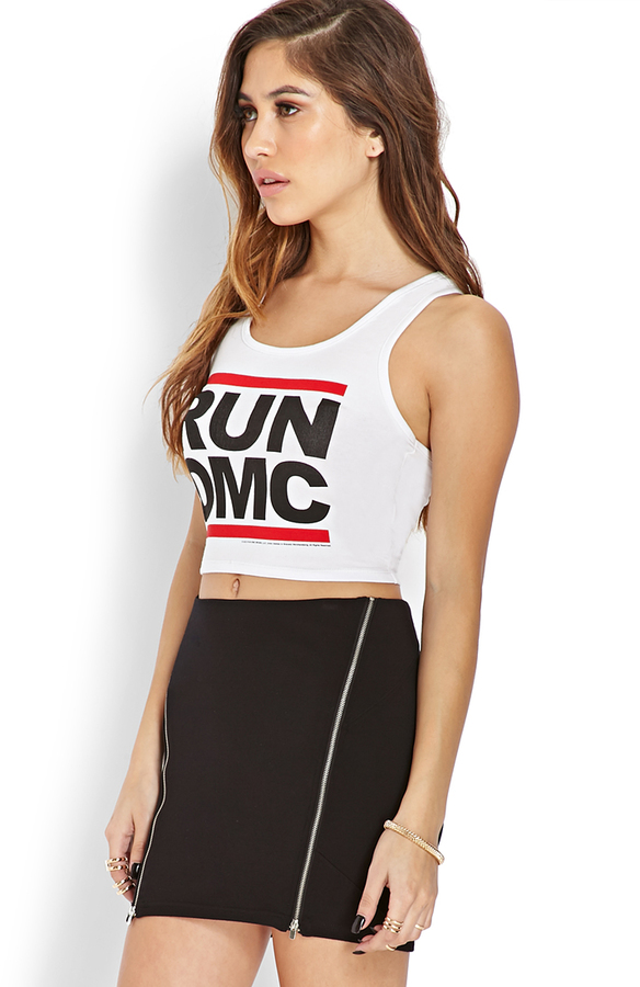 Forever 21 Run DMC Cropped Tank
