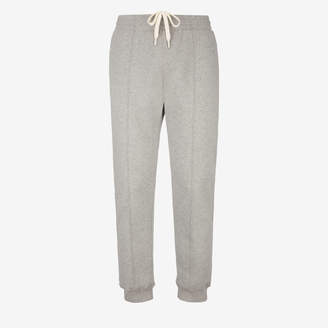 Bally Cotton Fleece Tracksuit Trousers Grey, Men's cotton fleece trousers in grey melange