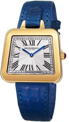 Bruno Magli 34mm Emma Trapezoid Watch w/ Blue Strap
