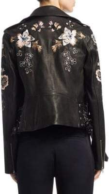 A.L.C. Benson Embroidered Leather Jacket