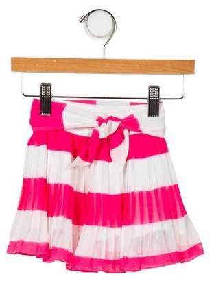 MonnaLisa Girls' Pleated Striped Skirt