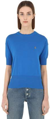 Vivienne Westwood Classic Cotton Knit Short Sleeve Sweater