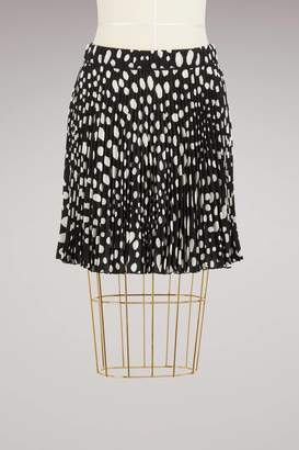 Marc Jacobs Wavy Short Pleated Crepe Skirt