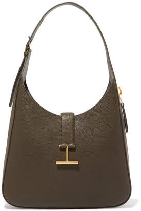 Tom Ford Tara Textured-leather Shoulder Bag - Army green