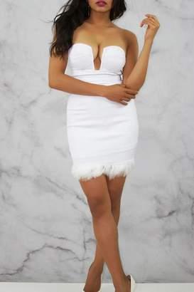 Rare London White Bustier Dress