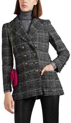 Philosophy di Lorenzo Serafini Women's Plaid Wool-Blend Double-Breasted Blazer